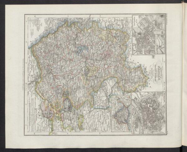 Herzogthum Nassau, Landgrafschaft Hessen Homburg und die Freie Stadt Frankfurt