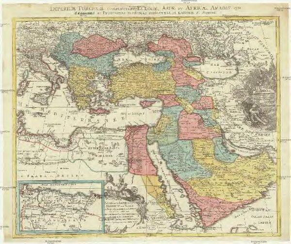 Estats de l'empire du grand seigneur des Turcs en Europe, en Asie, et en Afrique