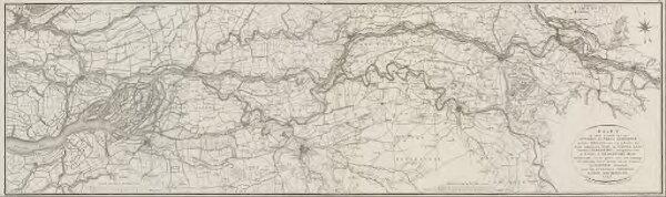 Kaarten en en platen, behoorende tot het werk, getiteld: Proeve van een ontwerp tot scheiding der rivieren de Whaal en de Boven-Maas ...