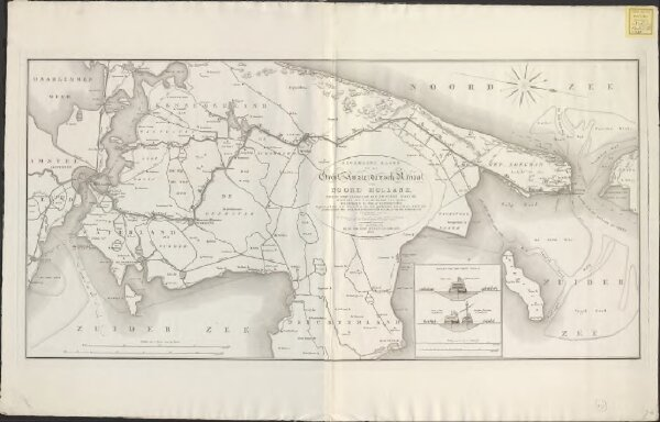 Algemeene kaart van het Groot Amsterdamsch Kanaal door Noord Holland: ... ondernomen in 1819 en voltooid in 1825