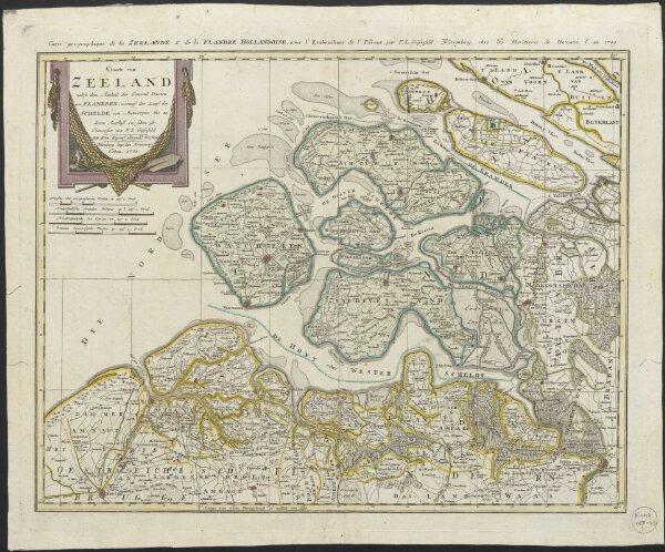 Charte von Zeeland, nebst dem Antheil der General Staaten an Flandern, worauf der Lauf der Schelde von Antwerpen bis zu ihrem Ausfluss zu sehen ist