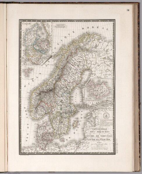Carte generale des royaumes de Suede, de Norvege et de Danemark
