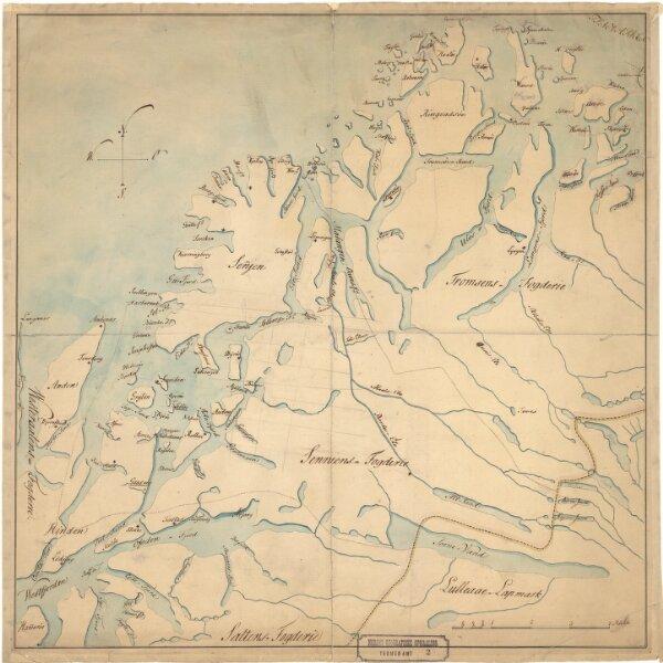 Tromsø amt 2: Kart over den søndre Del af Tromsø Amt
