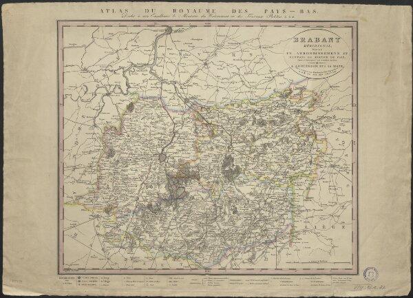 Brabant méridional, divisé en arrondissemens et cantons de justice de paix