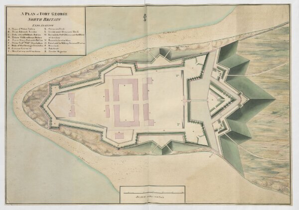 A PLAN of FORT GEORGE NORTH BRITAIN.