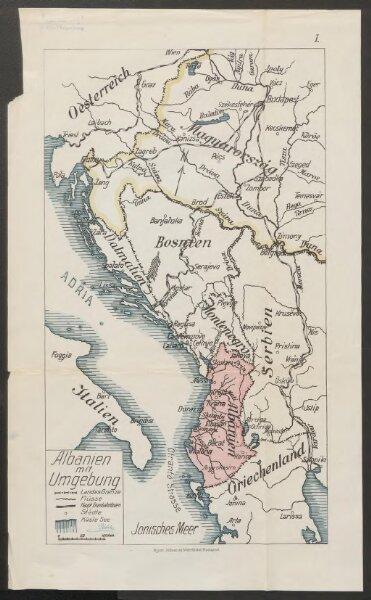 Albanien mit Umgebung
