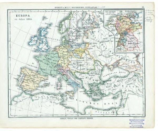 33. Europa im Jahre 1808