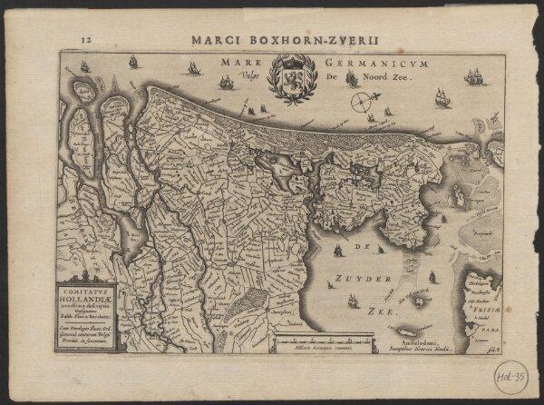 Comitatus Hollandiae novissima descriptio