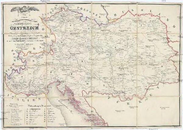 Neueste Post- Eil- und Brancardwagens Karte vom Kaiserthume OESTREICH