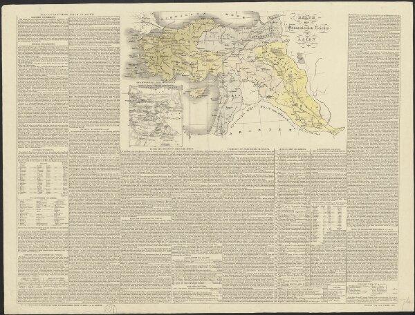 Karte des Osmanischen Reiches in Asien