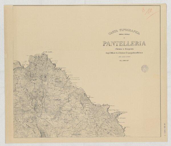 Carta topografica dell'Isola di Pantelleria