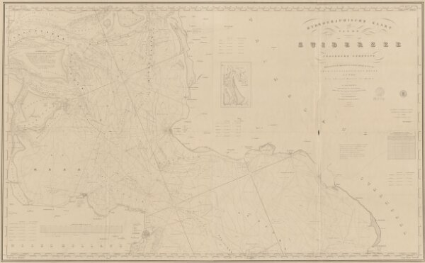 Hydrographische kaart van de Zuiderzee : noordelijk gedeelte