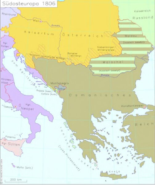 Südosteuropa 1806