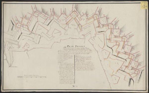 Plan project tot de onderaardsche versterking van het hooge front van Maastricht, begreepen tusschen de bastions Holsteyn en Waldeck door den Directeur Generaal C: D: Du Moulin 1774