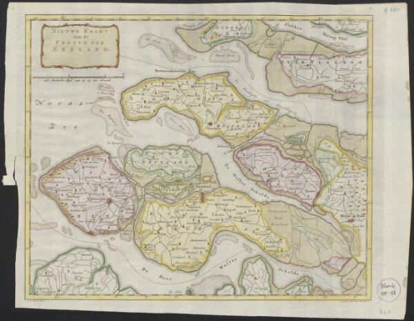Nieuwe kaart van de provintie Zeeland