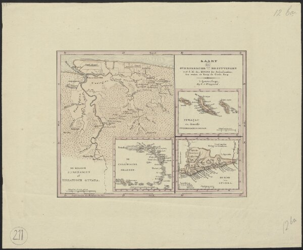 Kaart der overzeesche bezittingen van Z.M. den Koning der Nederlanden, ten westen de Kaap de Goede Hoop