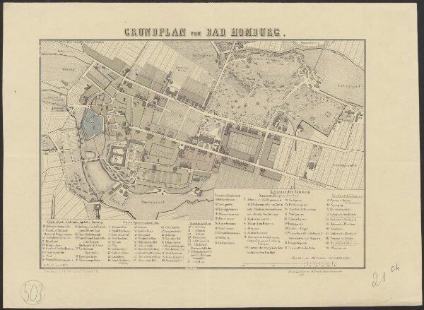 Grundplan von Bad Homburg