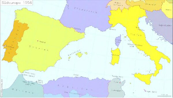 Südeuropa 1956
