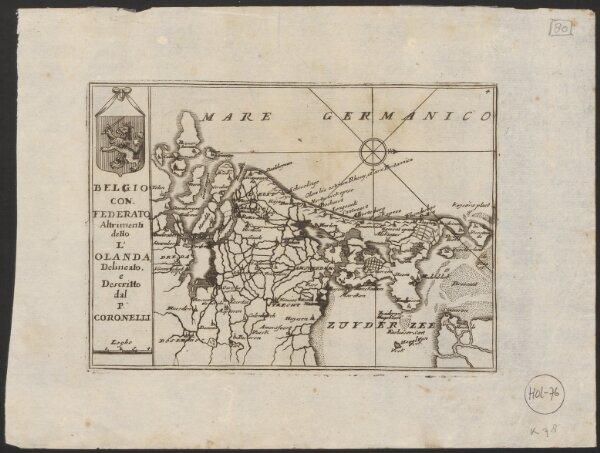 Belgio confederato altrimenti detto l'Olanda, delineato