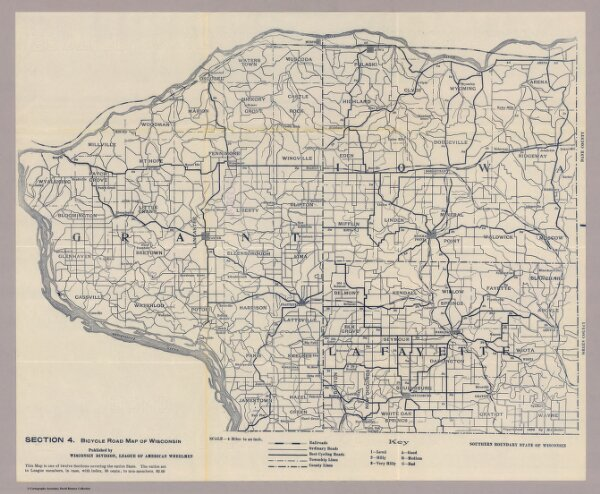 Section 4. Bicycle Road Map of Wisconsin.