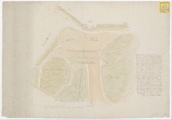 Kaart van een gedeelte der schorren, slicken en blicken, leggende en bestrekken de zig ten zuiden van de stad Axel ...
