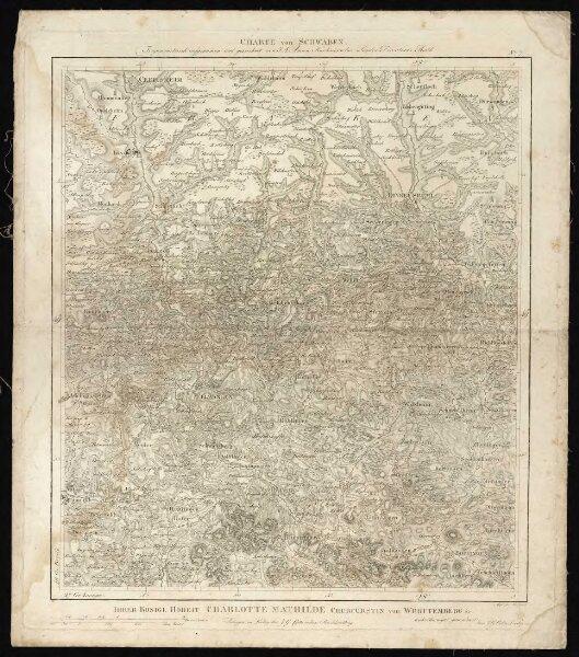 """HStAS N 100_Nr. 132_ : """"Karte von Schwaben""""""""Karte von Württemberg"""""""