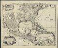 Carte du Mexique et de la Floride des Terres Angloises et des Isles Antilles du cours et des environs de la riviere de Mississipi