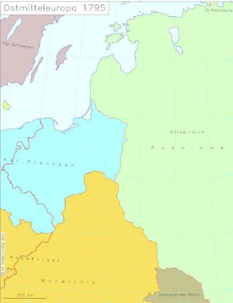Ostmitteleuropa 1795