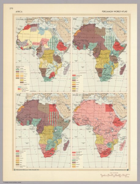 Africa.  Pergamon World Atlas.