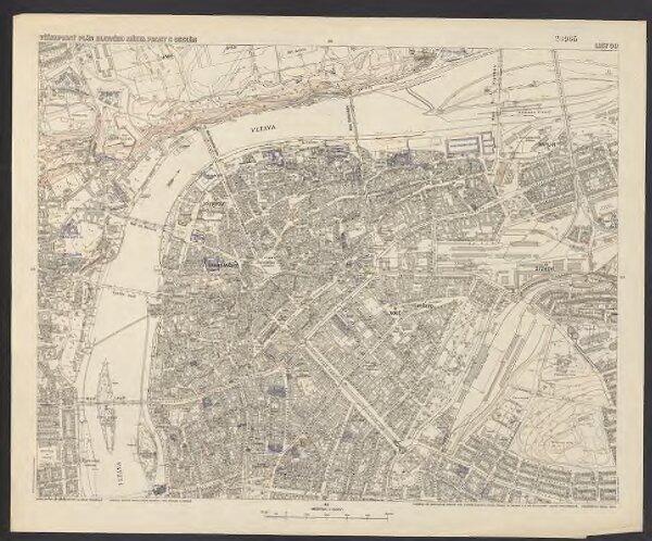 Výškopisný plán hlavního města Prahy s okolím