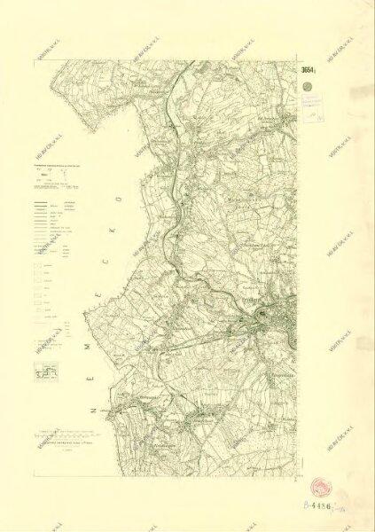 III. vojenské mapování 3654/1
