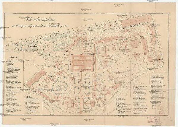 Situationsplan der Budapester allgemeinen Landes-Ausstellung 1885