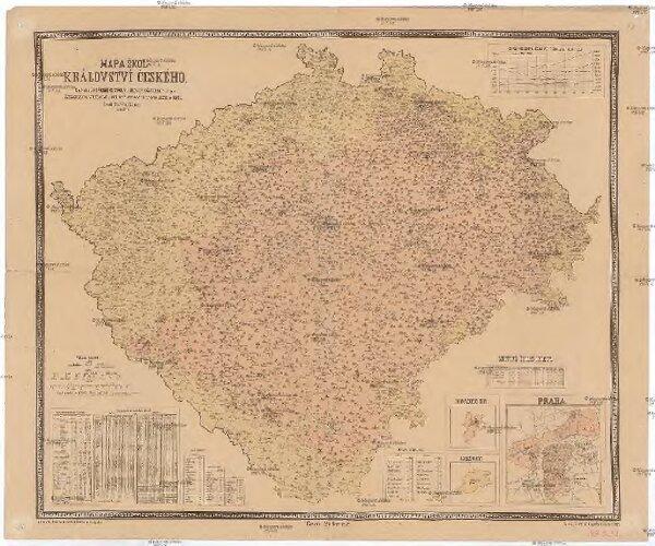 Mapa škol Království českého