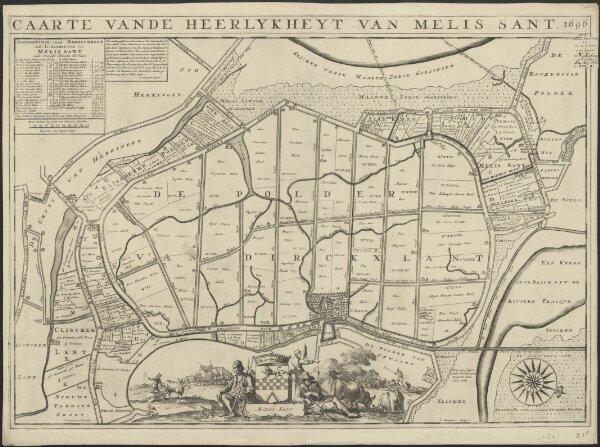 Caarte vande heerlykheyt van Melis Sant 1696