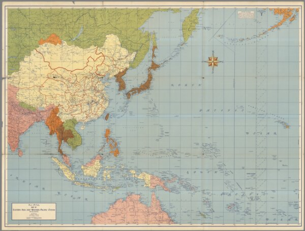 Rand McNally map of Eastern Asia and Western Pacific Ocean on