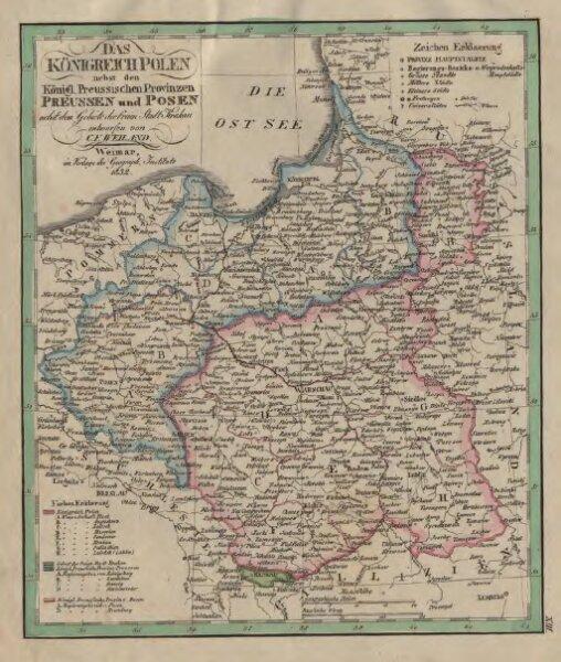 Das Königreich Polen nebst den Königl. Preussischen Provinzen Preussen und Posen nebst dem Gebiete der freien Stadt Krakau