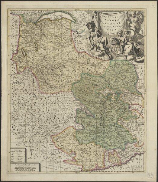 Les estats de Savoye, Piemont et le Comté de Nice