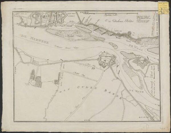[Kaart van de Merwede en een gedeelte van de Maas van Gorinchem tot voorbij Loevestein]
