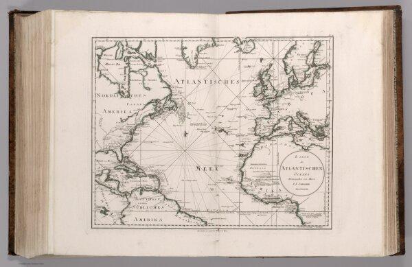 91.  Karte des Atlantischen Oceans Herausgegeben von Herrn F.A. Schraebml.  MDCCLXXXVIII.
