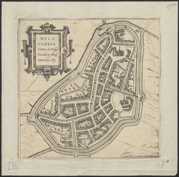 Bolzvardia vetus in Frisia Foederis Anzae teutonicae Op[pidum]