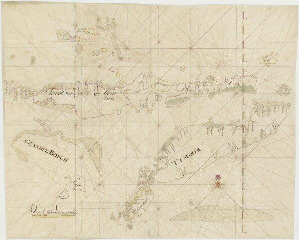 Kaart van Timor en omgeving, deel B
