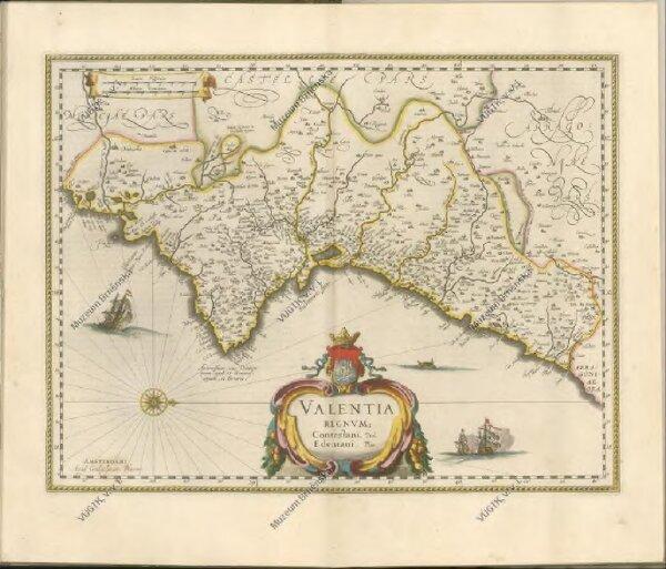 "mapa z atlasu ""Theatrvm orbis terrarvm, Sive Atlas novvs. Pars Secvnda."""
