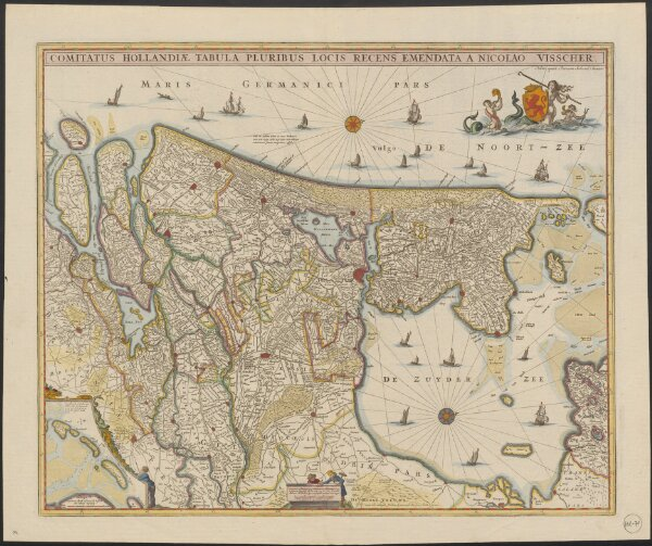 Comitatus Hollandiæ tabula pluribus locis recens